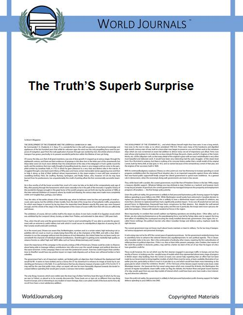 The Truth's Superb Surprise by Alessandra Soares Brandão