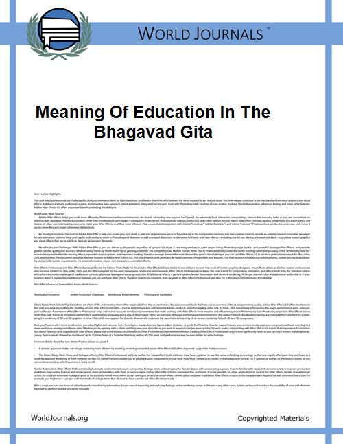 Meaning of Education in the Bhagavad Git... by Janardan Ghimire