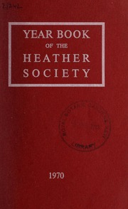 Yearbook of the Heather Society : Volume... by Heather Society