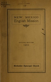 Year Book of the New Mexico English Miss... by Methodist Episcopal Church. New Mexico English Mis...