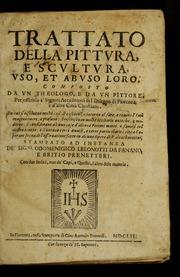 Trattato Della Pittvra, E Scvltvra, Vso,... by Ottonelli, Giovanni Domenico, 1584-1620