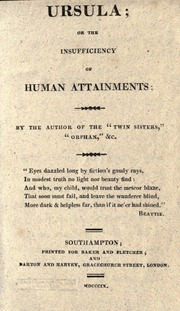 Ursula, Or, the Insufficiency of Human A... by Sandham, Elizabeth