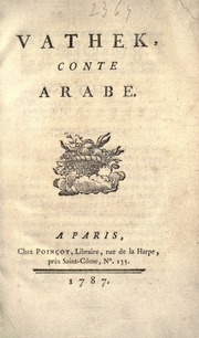 Vathek, Conte Arabe by Beckford, William, 1760-1844
