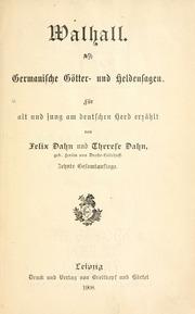 Walhall : Germanische by Dahn, Felix, 1834-1912