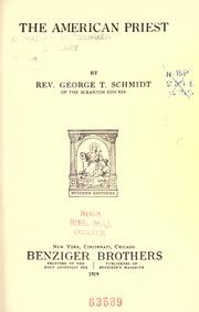 The American Priest by Schmidt, George Thomas, 1885-1954