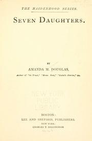 Seven Daughters by Douglas, Amanda Minnie, 1831-1916