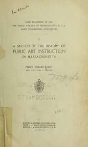 A Sketch of the History of Public Art In... by Bailey, Henry Turner, 1865-1931