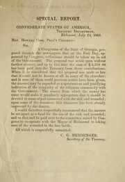 Special Report. Confederate States of Am... by Confederate States of America. Dept. of the Treasu...