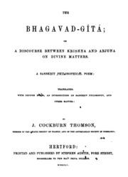 The Bhagavad-Gita a Sanskrit Philosophic... by Thompson, Cockburn J