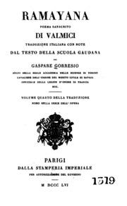 Ramayana Vol. 4 by Gorresio, Gaspare