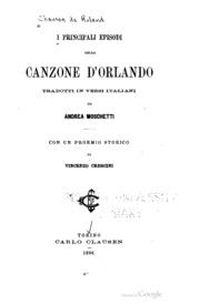 I Principali Episodi Della Canzone D'Orl... by Crescini, Vincenzo, 1857-1932