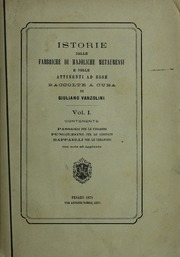 Istorie Delle Fabbriche Di Majoliche Met... by Vanzolini, Giuliano, Editor