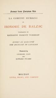 La Comedie Humaine by Balzac, Hono 1799-1850