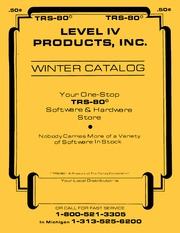 Level IV Products Winter Catalog (19Xx)(... by
