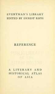 A Literary & Historical Atlas of Asia by Bartholomew, J. G. (John George), 1860-1920