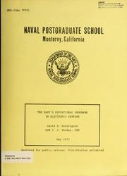 The Navy's Educational Programs in Elect... by Hoisington, D. B. (David B.)