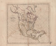 A New and Accurate Map of North America ... by Bower, John, Fl. 1810-1819