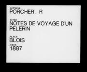 Notes De Voyage D'Un Pèlerin De Rome, En... by Porcher, R