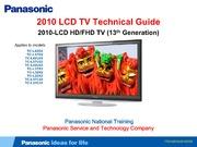Tech Manual: Panasonic Tc L42D2 Tc L37D2... by