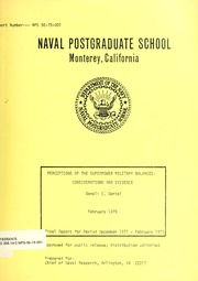 Perceptions of the Superpower Military B... by Daniel, Donald C. (Donald Charles), 1944-