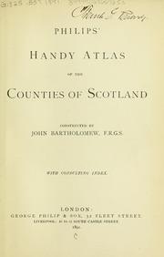 Philips' Handy Atlas of the Counties of ... by Bartholomew, John, 1831-1893