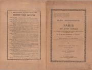 Plan Monumental De Paris Au Xviie Siecle... by Gomboust, Jacques, Active 1655