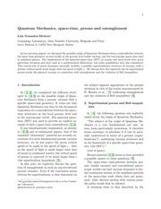Quantum Mechanics, Space-Time, Preons an... by Luis Gonzalez-Mestres