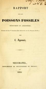 Rapport Sur Les Poissons Fossiles Dã©cou... by Agassiz, Louis, 1807-1873