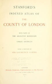 Stanford's Indexed Atlas of the County o... by Gomme, George Laurence, 1853-1916