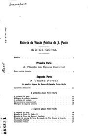 Historia Da Viacāo Publica De S. Paulo ... by Pinto, Adolpho Augusto