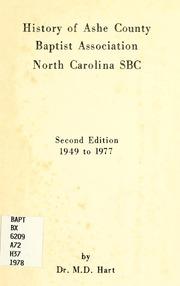 History of Ashe County Baptist Associati... by Hart, M. D