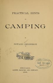 Practical Hints on Camping by Henderson, Howard