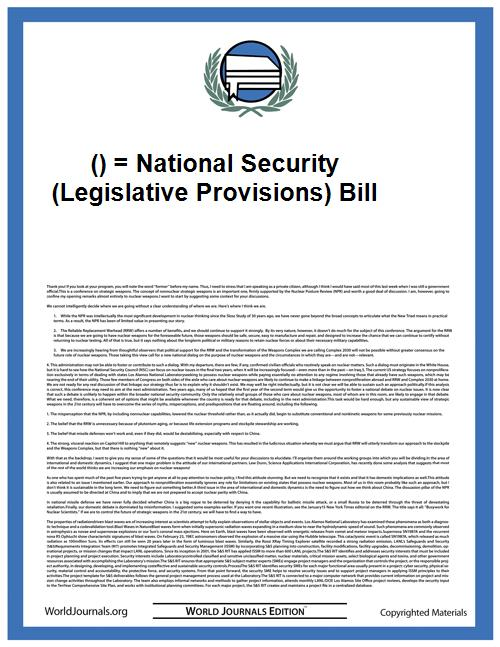 () = National Security (Legislative Prov... by Hong Kong Special Administrative Region Government
