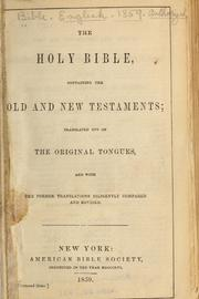 The Holy Bible, Containing the Old and N... by