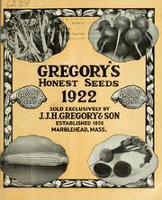 Gregory's Honest Seeds, Vol. 1922 Volume Vol. 1922 by J. J. H. Gregory & Son