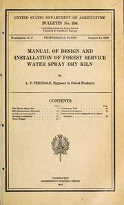 Manual of Design and Installation of For... Volume Vol. No. 894 by Teesdale, L. V. (Laurence Victor)