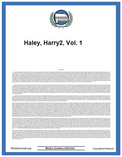 Haley, Harry2, Vol. 1 Volume Vol. 1 by
