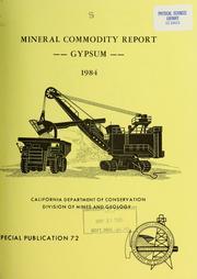 Mineral Commodity Report -- Gypsum -- 19... Volume Vol. No. 72 by Burnett, John L.