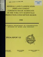 Mineral Land Classification : Portland C... Volume Vol. No. 132 by Habel, Robert S