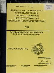 Mineral Land Classification of Portland ... Volume Vol. No. 160 by Jensen, Laurel S