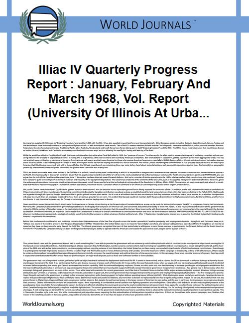 Illiac IV Quarterly Progress Report : Ja... Volume Vol. Report (University of Illinois at Urbana-Champaign. Dept. of Computer Science) No. 271 by University of Illinois at Urbana-Champaign. Dept. ...