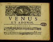 Venus Et Adonis by Desmarets, Henri