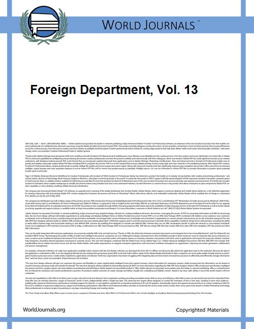 Foreign Department, Vol. 13 Volume Vol. 13 by