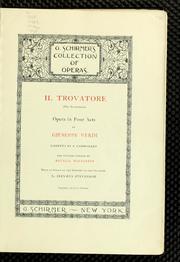 Il Trovatore = (the Troubadour) : Opera ... by Verdi, Giuseppe