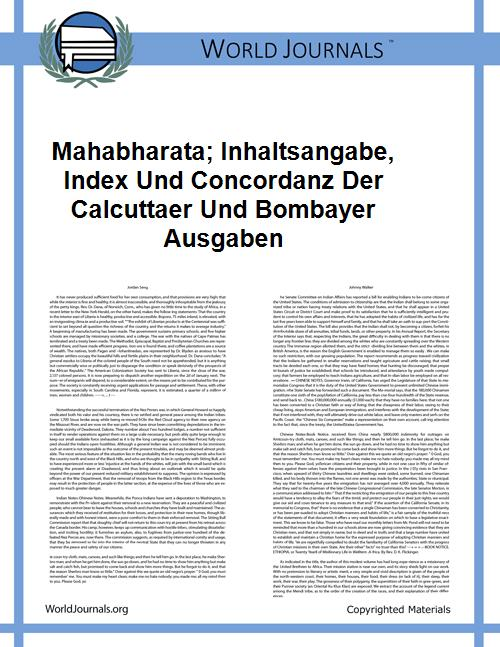 Mahabharata; Inhaltsangabe, Index Und Co... by Jacobi, Hermann