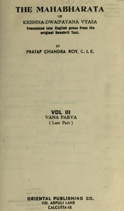 The Mahabharata of Krishna-Dwaipayana Vy... Volume Vol. 3 by Roy, Pratap Chandra