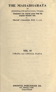 The Mahabharata of Krishna-Dwaipayana Vy... Volume Vol. 4 by Roy, Pratap Chandra