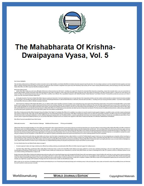 The Mahabharata of Krishna-Dwaipayana Vy... Volume Vol. 5 by Roy, Pratap Chandra