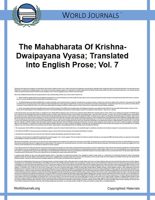 The Mahabharata of Krishna-Dwaipayana Vy... Volume Vol. 7 by