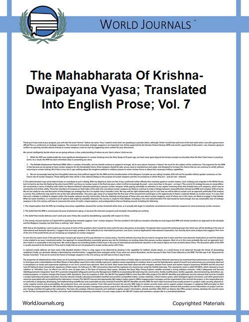 The Mahabharata of Krishna-Dwaipayana Vy... Volume Vol. 7 by
